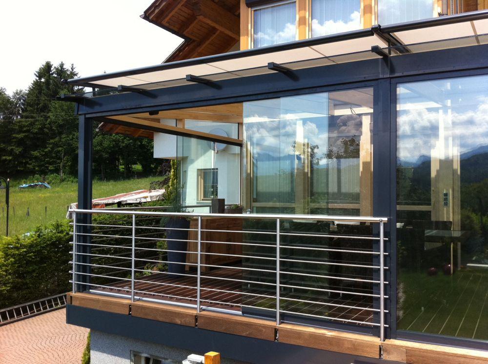 Terrassen Balkonschiebewände Nürnberg Fürth Glasbau Brehm